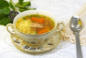 Chicken soup against flu